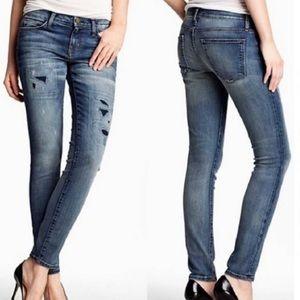 Current/Elliott Ankle Skinny Pixie W/Repair Jeans